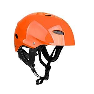 MagiDeal Casque de Sécurité Protecteur 11 Trous Respirant pour Sports Nautiques Kayak Canoë Surf Paddleboard - Orange, L
