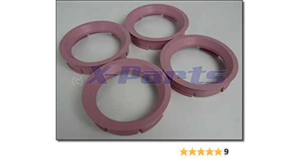 4er Set Felgen Zentrierringe 72 6mm Auf 57 1mm Rosa Alufelge Auto