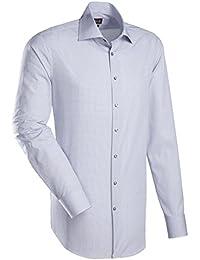 JACQUES BRITT Herren Hemd Custom Fit Brown Label 1/1-Arm Bügelleicht City-Hemd Manschette weitenverstellbar