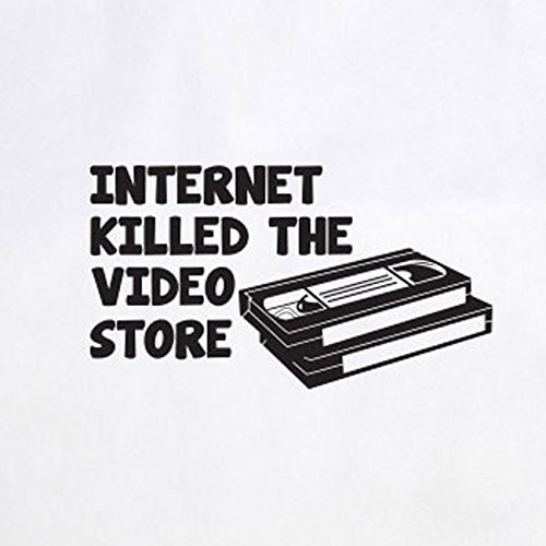 Internet killed the Video Store - Stofftasche / Beutel Natur