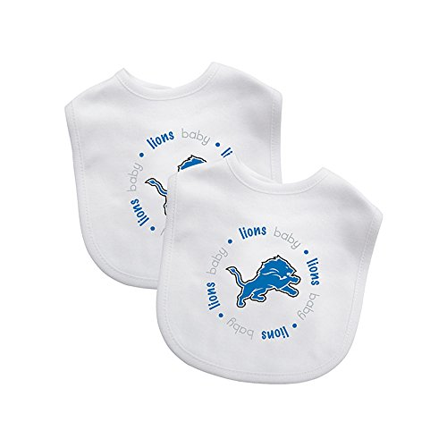 Baby Fanatic Team Color Bibs, Detroit Lions, 2-Count by Baby Fanatic -
