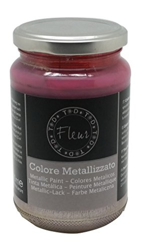 Fleur Paint 12802 - Pintura mineral metalizada (base agua, 330 ml) color champagne