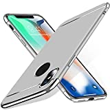 Oasics Luxury Thin Electroplating Hard Case Cover for iPhone XS Max 6.5 Inch/iPhone XS 5.8 Inch/iPhone XR 6.1 Inch, Silber Iphone Xs Max 6.5 inch