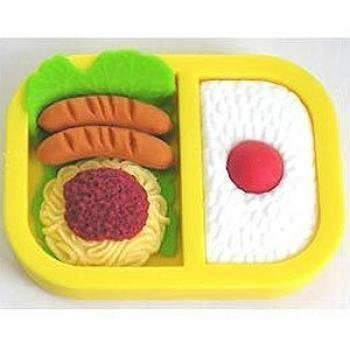 Iwako Yellow Sausage & Omelette Bento Box Erasers from Japan (Product image may be different) by Iwako