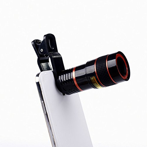 Aizbo® 12 x Zoom Lens Universal Telephoto Monocular Optical External Mobile Phone Telescope Phone Camera Lens Kit for iPhone 6S Plus/6S/6/5S/5C/5, Samsung Galaxy,LG, HTC, Moto, Nexus, Sony and More