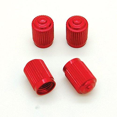 Lot de 4 bouchons de valve Presta en Alu pour pneus de v/élo moto voiture Ref09 Gris