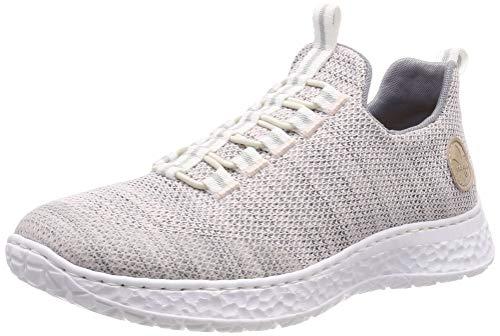 Rieker Damen N4174-31 Slip On Sneaker, Rosa (Clear/Rose-Grau 31)), 39 EU