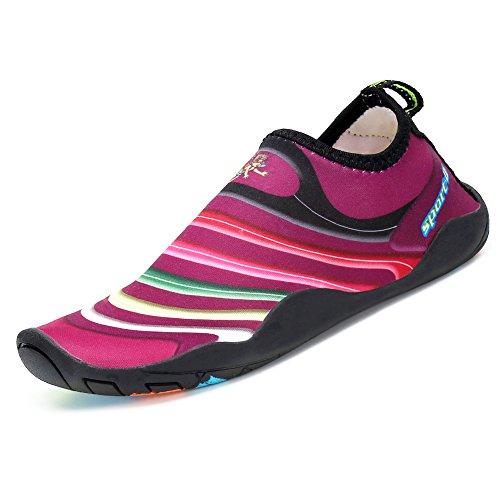 SAGUARO® Kinder Badeschuhe Aquaschuhe Schwimmschuhe Wasserschuhe Strandschuhe Water Shoes für Jungen Mädchen, Violett 30