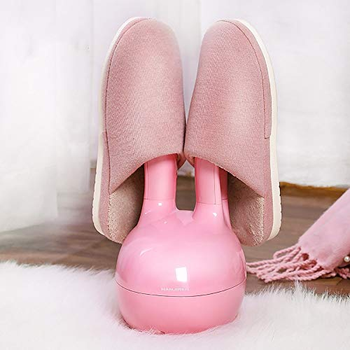Handschuh-Trockner & Boot-Wärmer Niedliche Kaninchen Schuhe Trockner Startseite Dorm Leichte warme Schuhe Maschine Abnehmbare Raumersparnis einfache Lagerung Weniger Lärm Weiß und Pink Geeignet für al