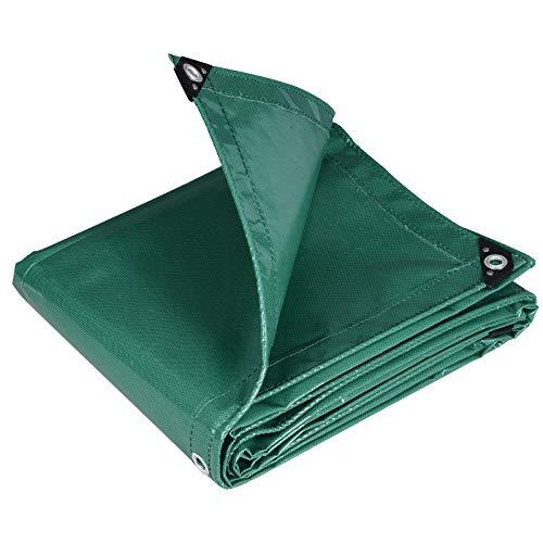WOLTU GZ1209m05 Telone Occhiellato Impermeabile Telo di Protezione Pesante Antipioggia Copertura da Esterno PVC 500 g/m² 3x6 m Verde