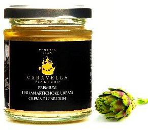 Caravella Premium Sauce Italienne d'Artichaut Organique Bruschetta Topping fait avec l'huile d'olive extra vierge 180 gr directement de Venise