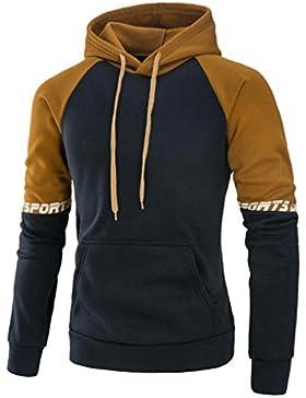 [Patrocinado]Sudaderas Hombre, Amlaiworld Hombres patchwork sudadera con capucha Tops chaqueta abrigo ropa