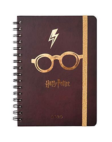 Erik - Agenda 2020 Harry Potter, Limited Edition, 12 mesi, settimanale, A5, multiuso e versatile con planning mensile, planning orario e adesivi stickers