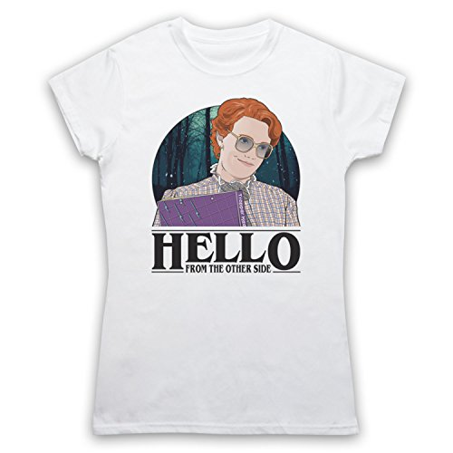 Barb Shirt (Stranger Things Barb Hello From The Other Side Damen T-Shirt, Weis, Medium)