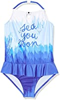 RED WAGON Maillot Une Pièce Sea You Soon Fille, Bleu (Blue), 9 Ans