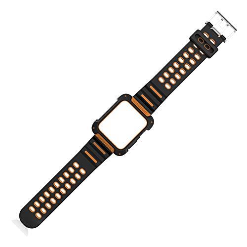gaddrt Uhrenarmband Robuste Schutzhülle mit Strap Bands für Apple Watch Series 3/2/1 42MM (Orange)