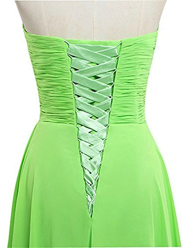 JAEDEN Donne Senza spalline Chiffon Abiti da ballo Abito da damigella lungo Vestito da partito Verde