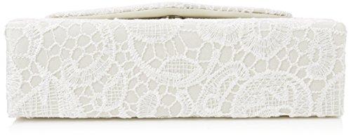 Swanky Swans Damen Jena Clutch, 6.5 x 16 x 24 cm Elfenbein (Ivory)