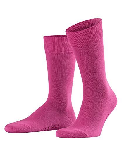 FALKE Family Baumwoll Strümpfe 1 Paar Casual Herren Socken Blickdicht Rosa (Pink 8197) 43/46 -