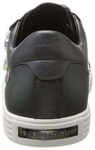 Kennel und Schmenger Schuhmanufaktur Damen Town Sneaker Grau (Gun/Pearl Sohe Weiss)