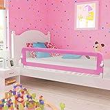 Barriera per letto da bambini,Barriera di sicurezza/protezione removibile per letto bambino, Sponda per Letto Bambini Universale Sbarra per Letto Bambini (180 x 42 cm, Rosa)