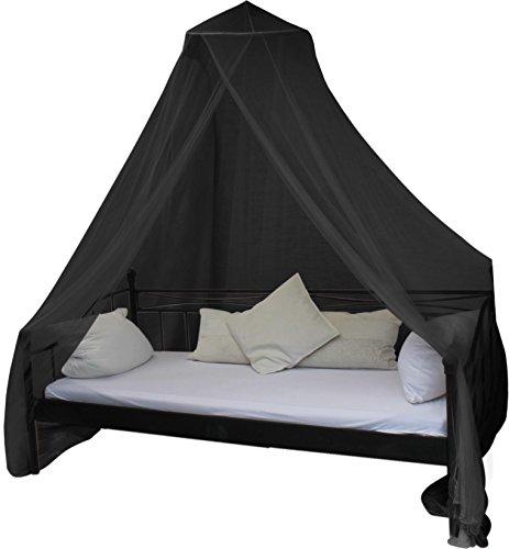 Mobiles Moskitonetz - Insektenschutz für In- und Outdoor - für Einzel- und Doppelbetten Farbe Schwarz (Moskitonetz Für Bett Schwarz)