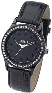 Oasis - B783 - Montre Femme - Quartz - Analogique - Bracelet Cuir Noir
