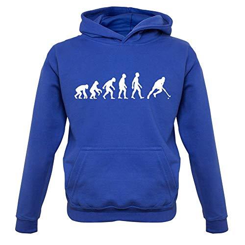 Dressdown Evolution of Man - Feldhockey - Kinder Hoodie/Kapuzenpullover - Königsblau - XL (9-11 Jahre)