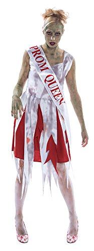Bristol Novelty AC241 Schulballkönigin Kostüm, Weiß, UK Size - Dead Disco Kostüm