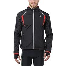Ultrasport Stretch Delight - Chaqueta deportiva de running y ciclismo para hombre, color negro/ rojo, talla L