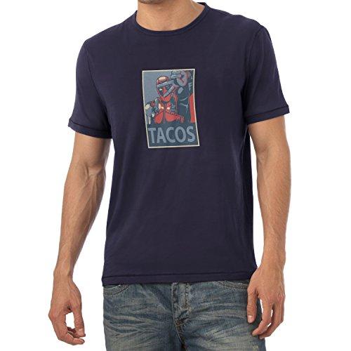 Preisvergleich Produktbild Texlab Tacos 4 Life - Herren T-Shirt,  Größe M,  Navy
