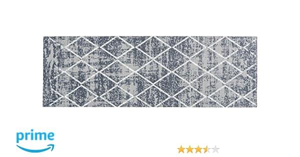 Teppiche Flur Teppichl/äufer rutschfest Flurl/äufer K/üchenl/äufer K/üchenmatte Dekol/äufer f/ür K/üche Teppich L/äufer Waschbare K/üchenl/äufer K/üchendeko Patchwork Tiles Grey Grau Gr/ö/ße 50 x 150