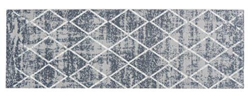 Küchenläufer Küchenmatte Dekoläufer Küchendeko für Küche Teppich Läufer Küchenteppich Küchen Teppiche Kitchen Mat waschbare Matten Flur Diele Vintage Design Größe 50 x 150 cm - Grau - Tuft-teppich-matte