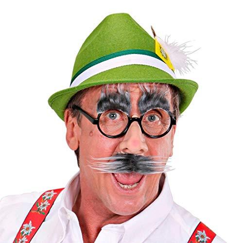 NET TOYS Witzige Brille Alter Mann mit Nase, Bart & Augenbrauen - Schwarz - Originelle Unisex-Gesichtsmaske Groucho - Genau richtig für Fasching & Oktoberfest