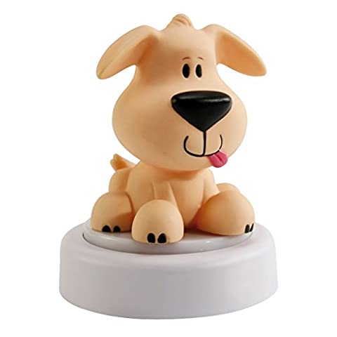 ANSMANN Child's Brown Dog glow night light, ideal for kids bedroom, great sleeping aid, cartoon light, décor light, babies / children with tested materials - 5870032 - child safety a