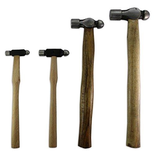 Set 4Kugelhammer Hammer Juwelier Werkzeug Metall Gestaltung Craft Armbanduhr Juwelier Werkzeug