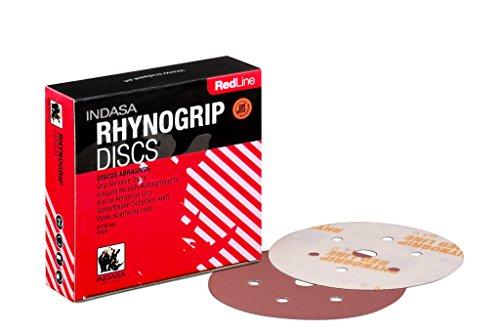 Preisvergleich Produktbild INDASA RHYNOGRIP RED LINE 150mm Schleifscheiben Klettscheiben mit 6 Löchern 6H / 50 Stück (Körnung: P240)