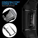 CAVN Compatible with Fitbit Charge 3 Screen Protector Case [2-Pack], Chargeable Protective Case Bumper Flexible TPU Slim Full Protection Shatter-Resistant Shock-proof Screen Case Cover, Black & Black