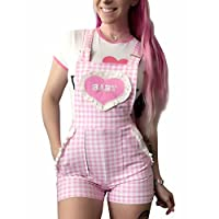 LittleForBig Short Overalls Shortalls - Babydoll Overalls M Pink