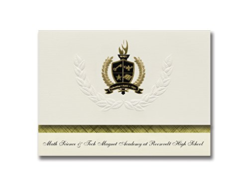 Signature Announcements Math Science & Tech Magnet Academy at Roosevelt High School Graduation Announcements Presidential Basic Pack 25 w Gold & Black Foil Seal