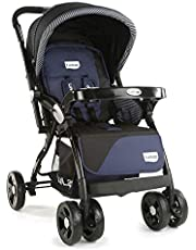 LuvLap Galaxy Baby Stroller - Black ( For Babies upto 25 kgs)