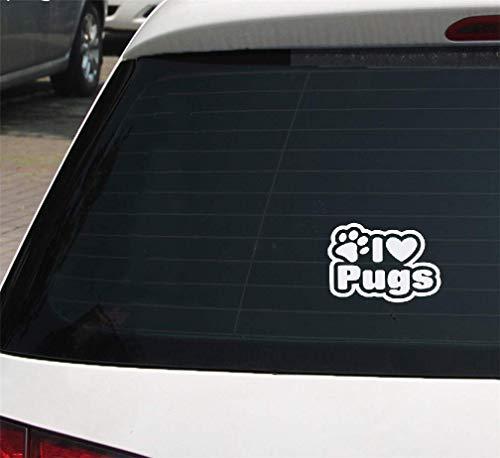 Auto Mit Aufkleber 15x10,5 Cm Ich Liebe Möpse Auto Lkw Fenster Aufkleber Aufkleber Schöne Humor Car Wrap Auto Aufkleber Für Auto Laptop Fenster Aufkleber -