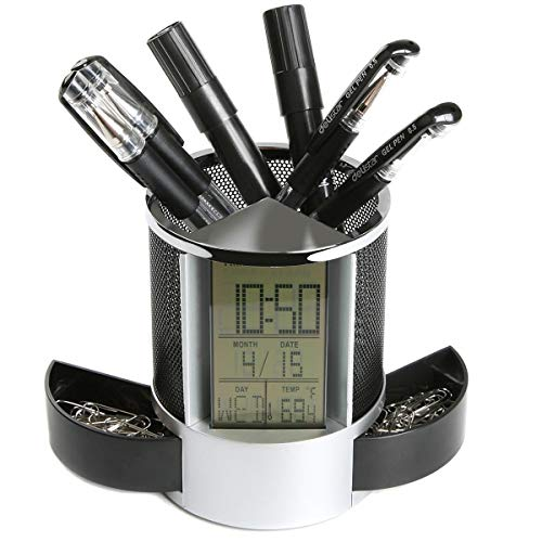 Temperamentvoll Led Schreibtischlampe Business Leuchte Mit Bildschirmkalender Inkl Wecker Büro & Schreibwaren Tischleuchten