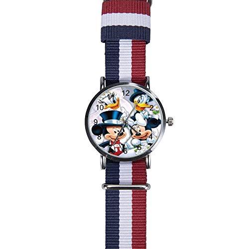 Mickey Maus und Minnie Donald Duck Armbanduhr Freizeit Quarz für Herren Frauen Kinder Freunde Geschenk
