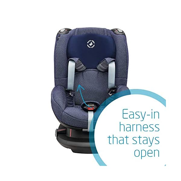 Maxi-Cosi Tobi Toddler Car Seat Group 1, Forward-Facing Reclining Car Seat, 9 Months-4 Years, 9-18 kg, Sparkling Blue Maxi-Cosi Forward facing group 1 car seat suitable for children from 9 to 18 kg (approx. 9 months to 4 years) Install with a 3-point car seat belt, with clear and intuitive seat belt routing High seating position allows toddler to watch outside the window 5
