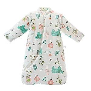 MIKAFEN – Saco de dormir de invierno para bebé, 3,5 Tog, de algodón orgánico, varios tamaños desde el nacimiento hasta…