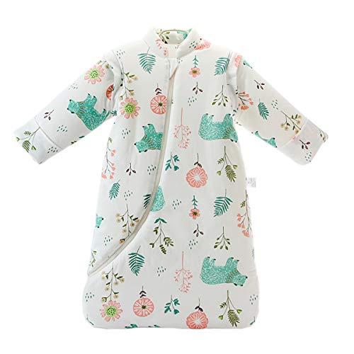 Baby Winter schlafsack Kinder schlafsack 3.5 Tog Schlafsaecke aus Bio Baumwolle Verschiedene Groessen von Geburt bis 4 Jahre alt (L/24-48Monate, greenbear)