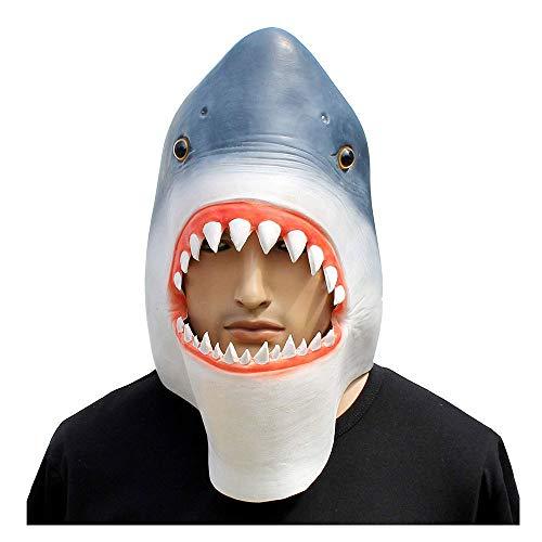 YaPin Neuheit Halloween Maske Hai Maske Sharknado Maske, Weißer Hai Kostüm, Requisiten (Große Weiße Hai-kostüm)