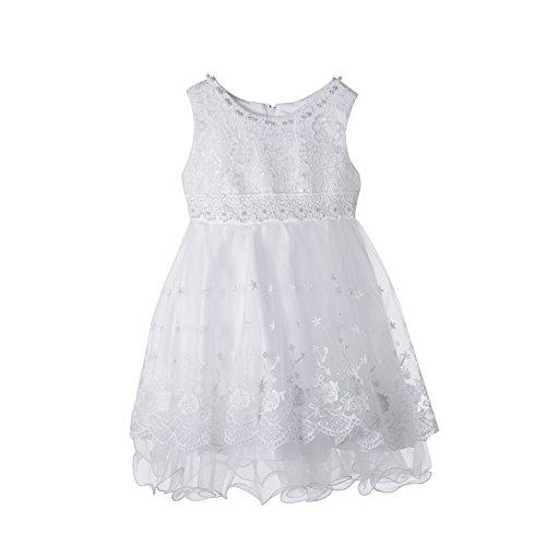 Baby Mädchen Kleid Prinzessin Hochzeit Taufkleid Blumenmädchen Festlich Kleid Kleinkind Festzug Kleidung,1-4 Jahre