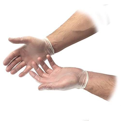 ium Einweg gepudert Vinyl unsteril klar Latex frei Erste Hilfe Durable Schutz Mehrzweck Lab Tattoo vet Zahnarzt Mechaniker Medic Handschuhe ()